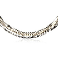 The Collection - Three tier multi tonal snake chain necklace