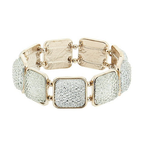 The Collection - Gold textured stretch cord bracelet