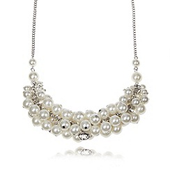 The Collection - Cream cluster bead necklace