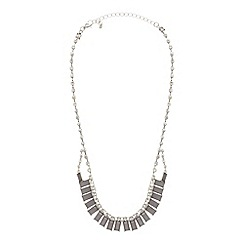 The Collection - Grey baguette stone necklace