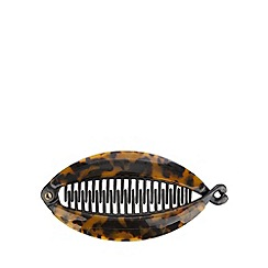 The Collection - Brown tortoiseshell banana hair clip