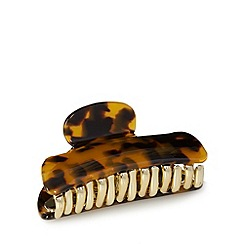 The Collection - Brown tortoiseshell effect large hair clip