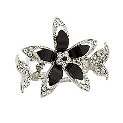 The Collection - Silver filigree flower hair clip