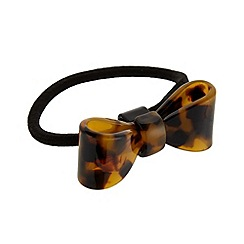 The Collection - Brown tortoiseshell bow hair tie