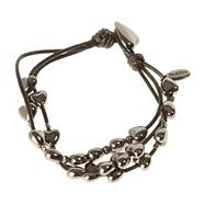 Dark Grey Multi-Heart Bracelet