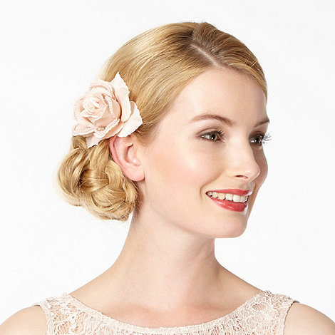 The Collection - Rose pearl fabric corsage clip