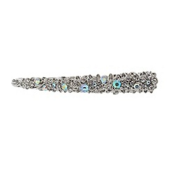The Collection - Silver large stone salon clip