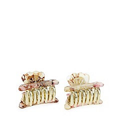 The Collection - Rose floral print hair clip