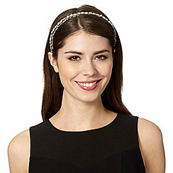 The Collection - Silver large gemstone set headband