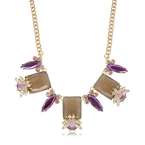 Floozie by Frost French - Designer purple embellished bee long necklace