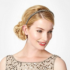 No. 1 Jenny Packham - Designer grey beaded headband