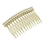 Designer gold pearl hair comb