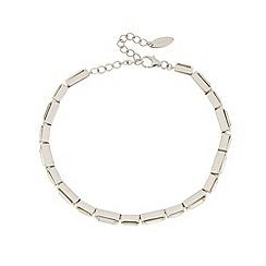 J by Jasper Conran - Designer sterling silver crystal baguette stone bracelet
