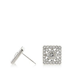 No. 1 Jenny Packham - Designer sterling silver square flower stud earrings