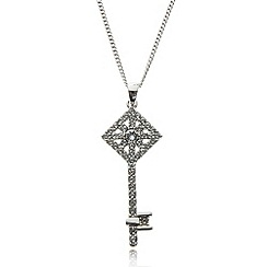 No. 1 Jenny Packham - Designer sterling silver key pendant necklace