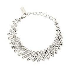 No. 1 Jenny Packham - Designer silver diamante mesh bracelet