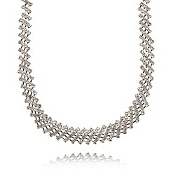 No. 1 Jenny Packham - Designer silver diamante mesh necklace