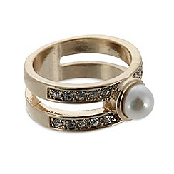 No. 1 Jenny Packham - Designer large gold plated stone and pearly ring