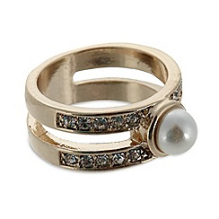 No. 1 Jenny Packham - Designer small gold plated stone and pearly ring