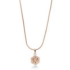 J by Jasper Conran - Designer rose gold vermeil crystal pendant necklace