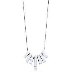 J by Jasper Conran - Designer sterling silver crystal baguette pendant necklace