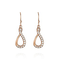 Van Peterson 925 - Rose gold vermeil twisted hoop earrings