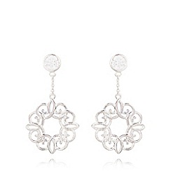Van Peterson 925 - Sterling silver open swirl drop earrings