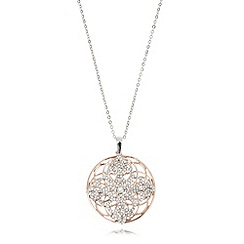 Van Peterson 925 - Designer sterling silver layered disc pendant necklace