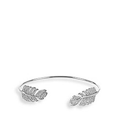 Van Peterson 925 - Designer sterling silver feather cuff bracelet