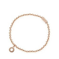 Van Peterson 925 - Designer rose gold vermeil beaded stretch bracelet