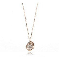 Van Peterson 925 - Designer rose gold vermeil pave leaves necklace