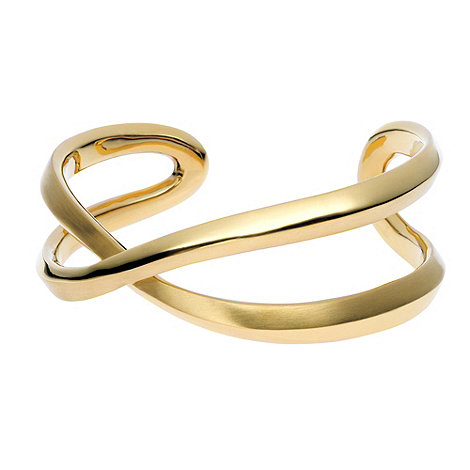DKNY - Gold plated twist design bangle