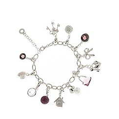 Van Peterson 925 - Designer sterling silver multi charm bracelet