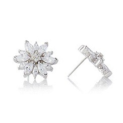 No. 1 Jenny Packham - Designer sterling silver large flower stud earrings