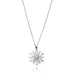 No. 1 Jenny Packham - Designer sterling silver flower pendant necklace