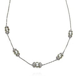 No. 1 Jenny Packham - Designer sterling silver capped pearly necklace