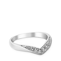No. 1 Jenny Packham - Designer small sterling silver wishbone ring