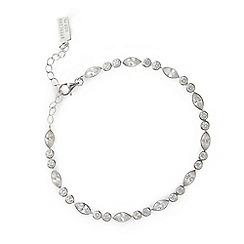 No. 1 Jenny Packham - Designer sterling silver round and navette stone bracelet