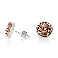 J by Jasper Conran - Designer sterling silver rock stud earrings
