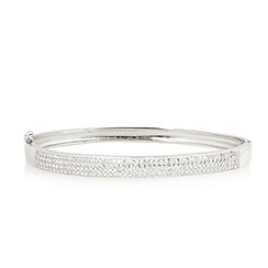 J by Jasper Conran - Designer sterling silver pave crystal bangle