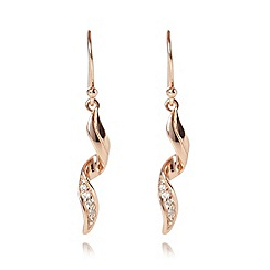 J by Jasper Conran - Designer rose gold plated ribbon curl earrings