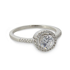 No. 1 Jenny Packham - Designer large sterling silver circle stone ring
