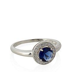 No. 1 Jenny Packham - Designer sterling silver navy circle stone ring