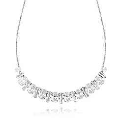 No. 1 Jenny Packham - Designer sterling silver curved stone necklace