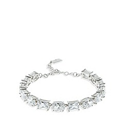 No. 1 Jenny Packham - Designer sterling silver baguette and oval stone bracelet