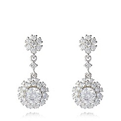 No. 1 Jenny Packham - Designer sterling silver flower drop earrings