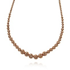 J by Jasper Conran - Designer rose gold vermeil graduated textured ball necklace
