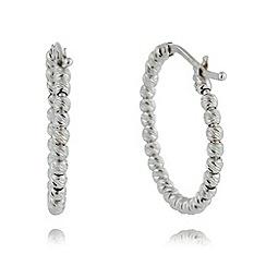 J by Jasper Conran - Designer sterling silver faceted ball hoop earrings