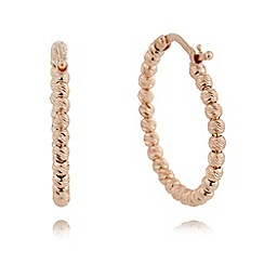 J by Jasper Conran - Designer rose gold vermeil faceted ball hoop earrings