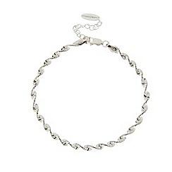 J by Jasper Conran - Designer sterling silver twisted chain bracelet